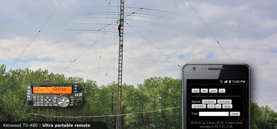 Ultra portable remote Kenwood TS 480