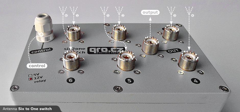 Six2one Antenna Switch