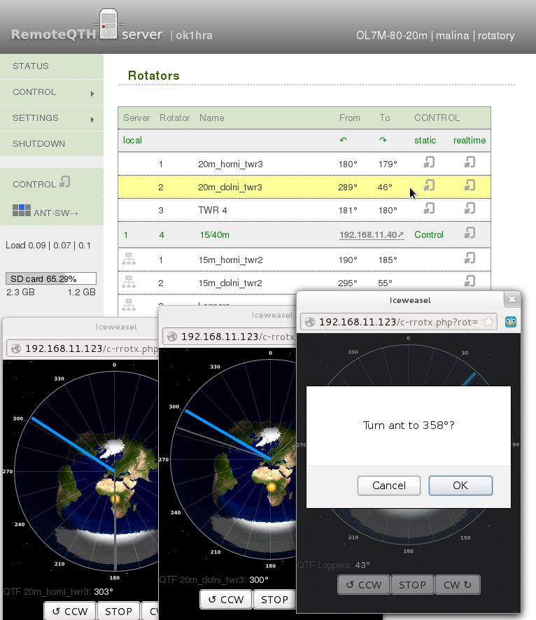 Remoteqth Multi Rotator Control